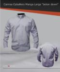 Camisa de vestir manga larga 60/40, bolsa frontal izquierda, botón down
