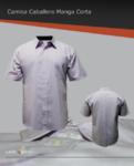 Camisa de vestir manga corta 60/40, bolsa frontal izquierda