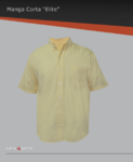 camisa de vestir manga corta 100% algodón, bolsa frontal izquierda