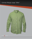 Camisa de vestir 100% algodón, bolsa frontal izquierda, botón down