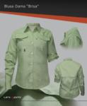 Blusa con ventilación en espalda y hombros, manga ajustable