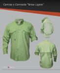 Camisa con ventilación en espalda y hombros, manga ajustable