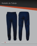 Pantalon de trabajo en gabardina 100% algodón, ideal para uso rudo